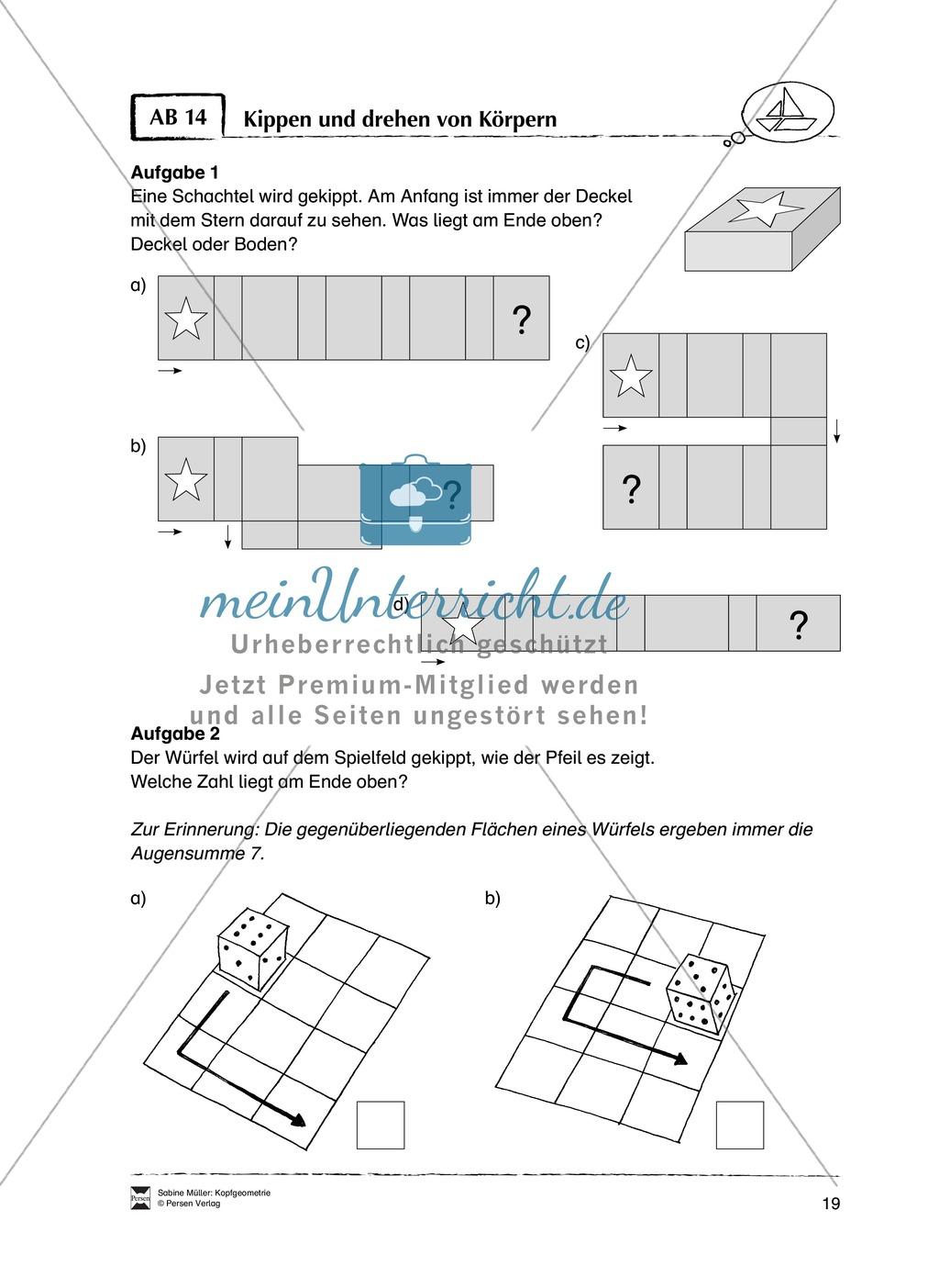 Arbeitsblätter zur Schulung des räumlichen Vorstellungsvermögens Preview 14