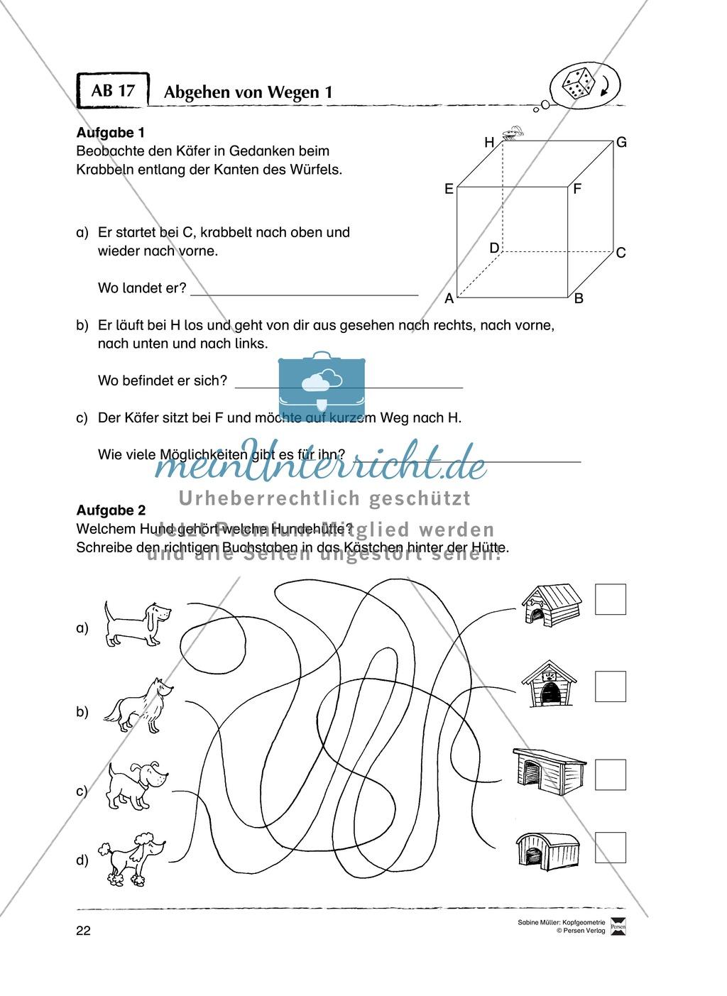 Arbeitsblätter zur Schulung des räumlichen Vorstellungsvermögens Preview 17