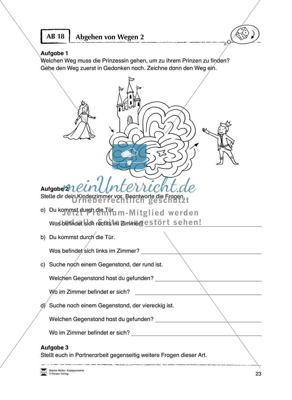 Arbeitsblätter zur Schulung des räumlichen Vorstellungsvermögens Preview 18