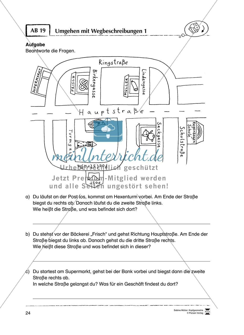 Arbeitsblätter zur Schulung des räumlichen Vorstellungsvermögens Preview 19