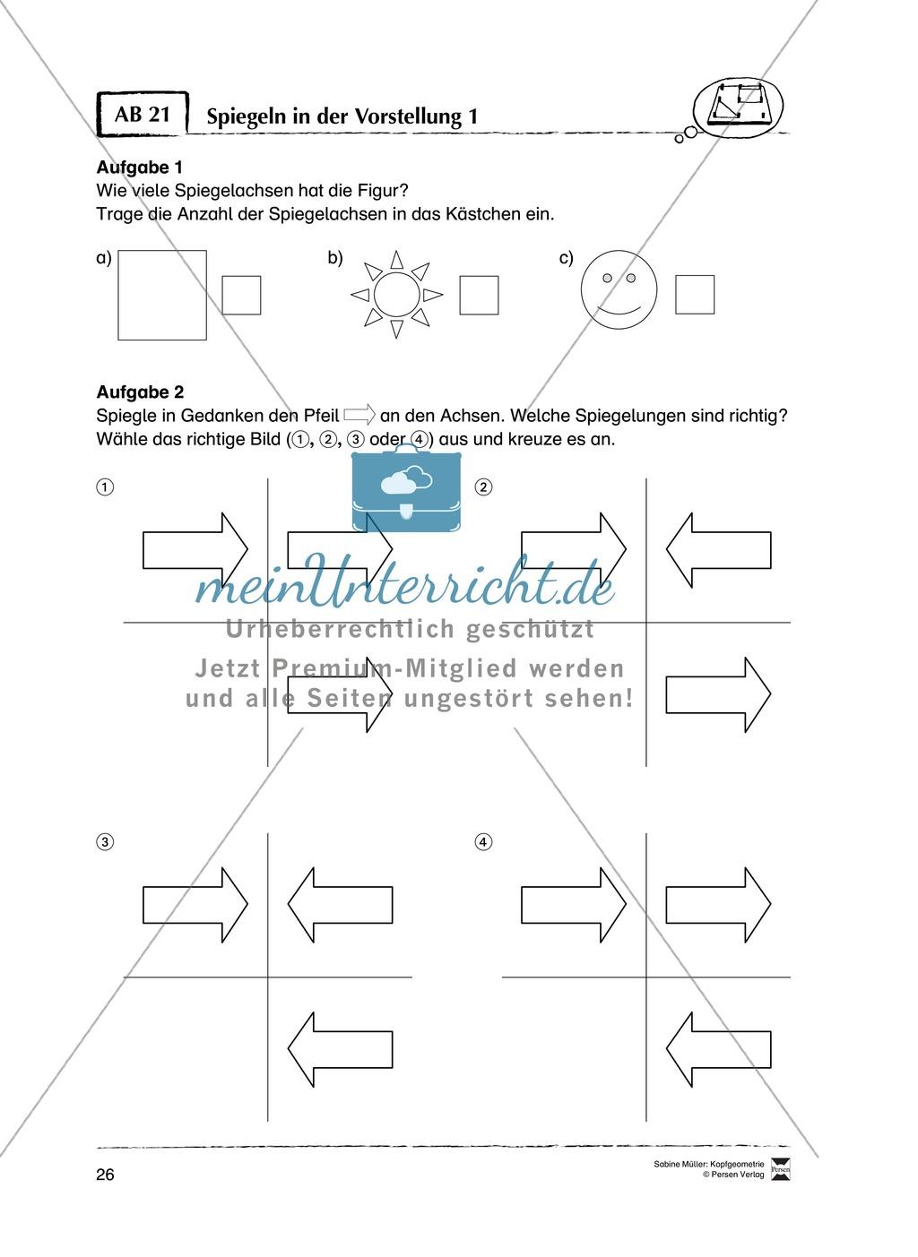 Arbeitsblätter zur Schulung des räumlichen Vorstellungsvermögens Preview 21