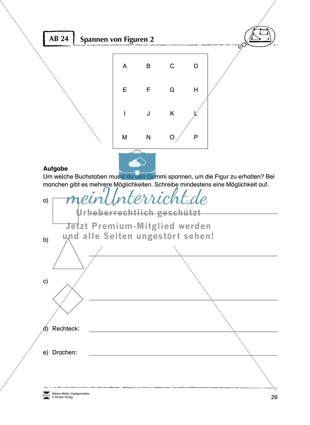 Arbeitsblätter zur Schulung des räumlichen Vorstellungsvermögens Preview 24