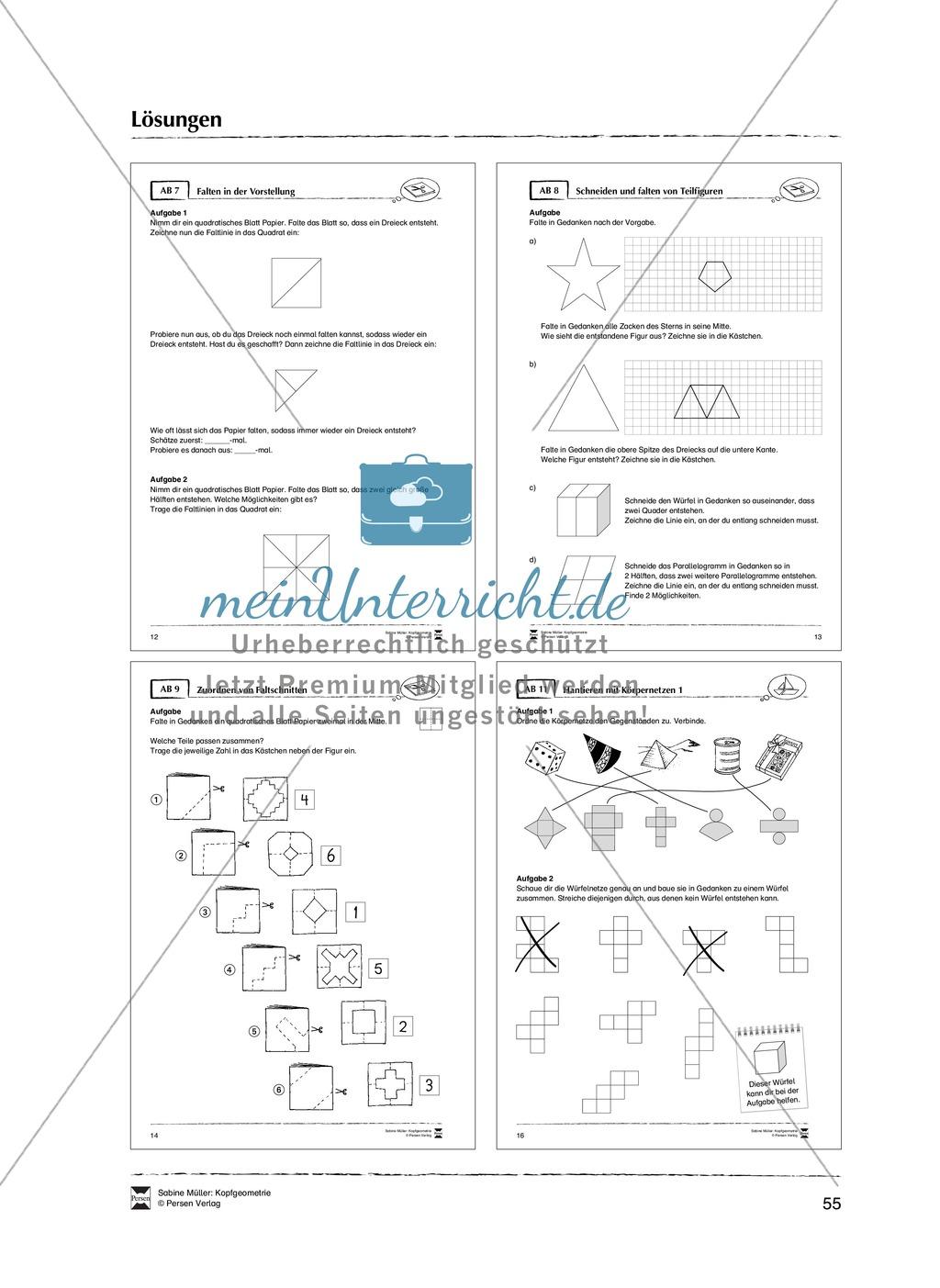 Arbeitsblätter zur Schulung des räumlichen Vorstellungsvermögens Preview 26