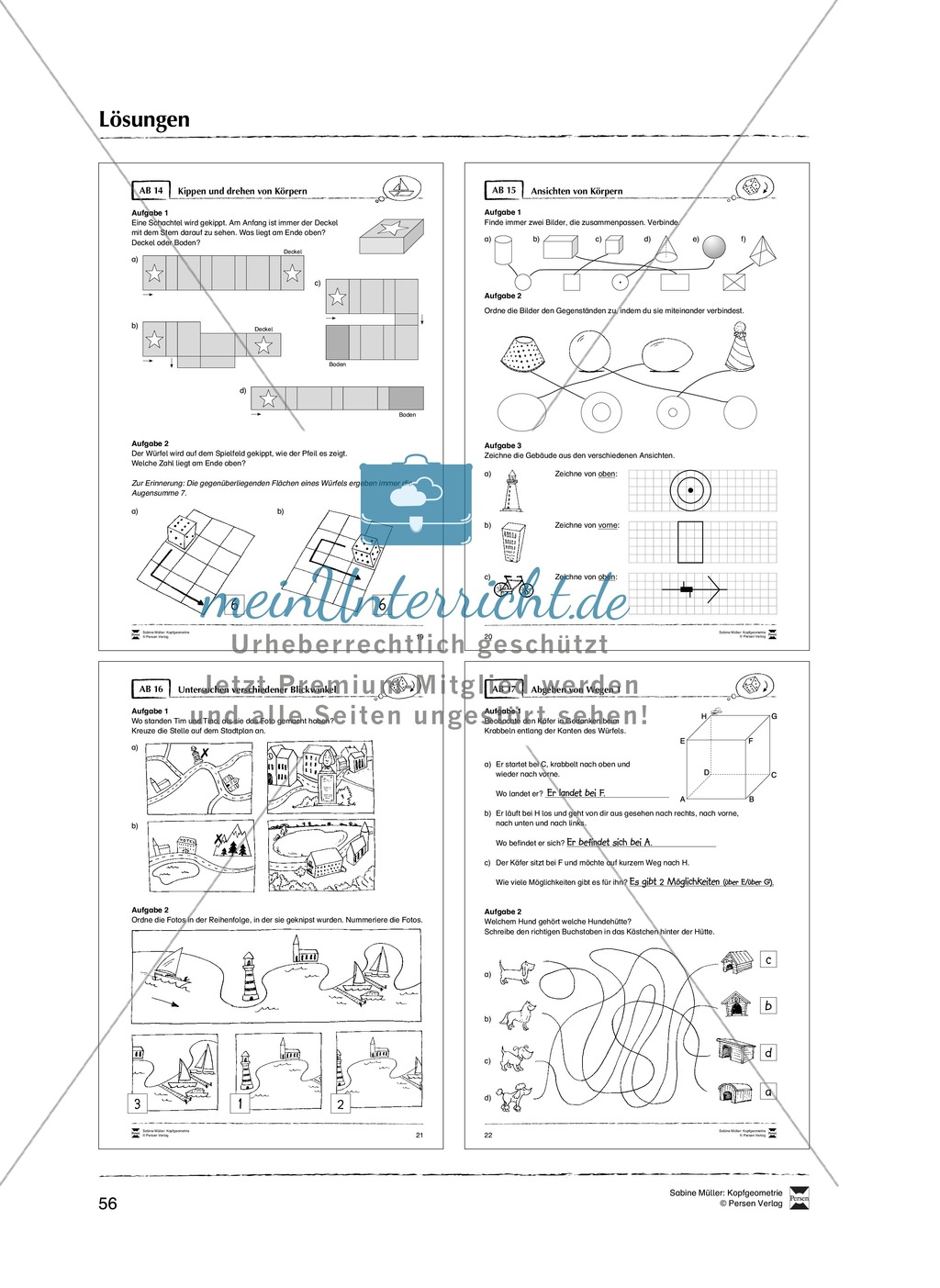 Arbeitsblätter zur Schulung des räumlichen Vorstellungsvermögens Preview 27