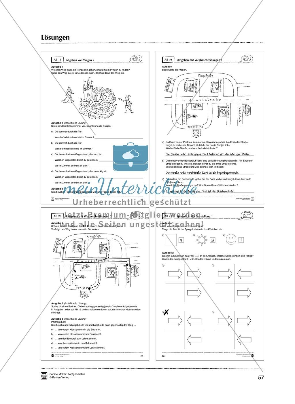 Arbeitsblätter zur Schulung des räumlichen Vorstellungsvermögens Preview 28