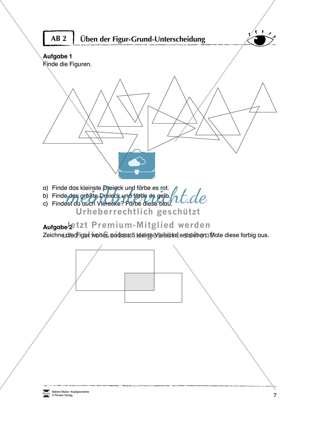 Arbeitsblätter zur Schulung des räumlichen Vorstellungsvermögens Preview 2