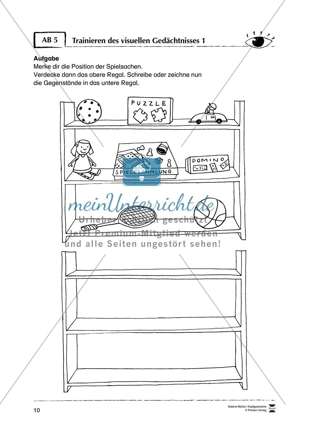 Arbeitsblätter zur Schulung des räumlichen Vorstellungsvermögens Preview 5