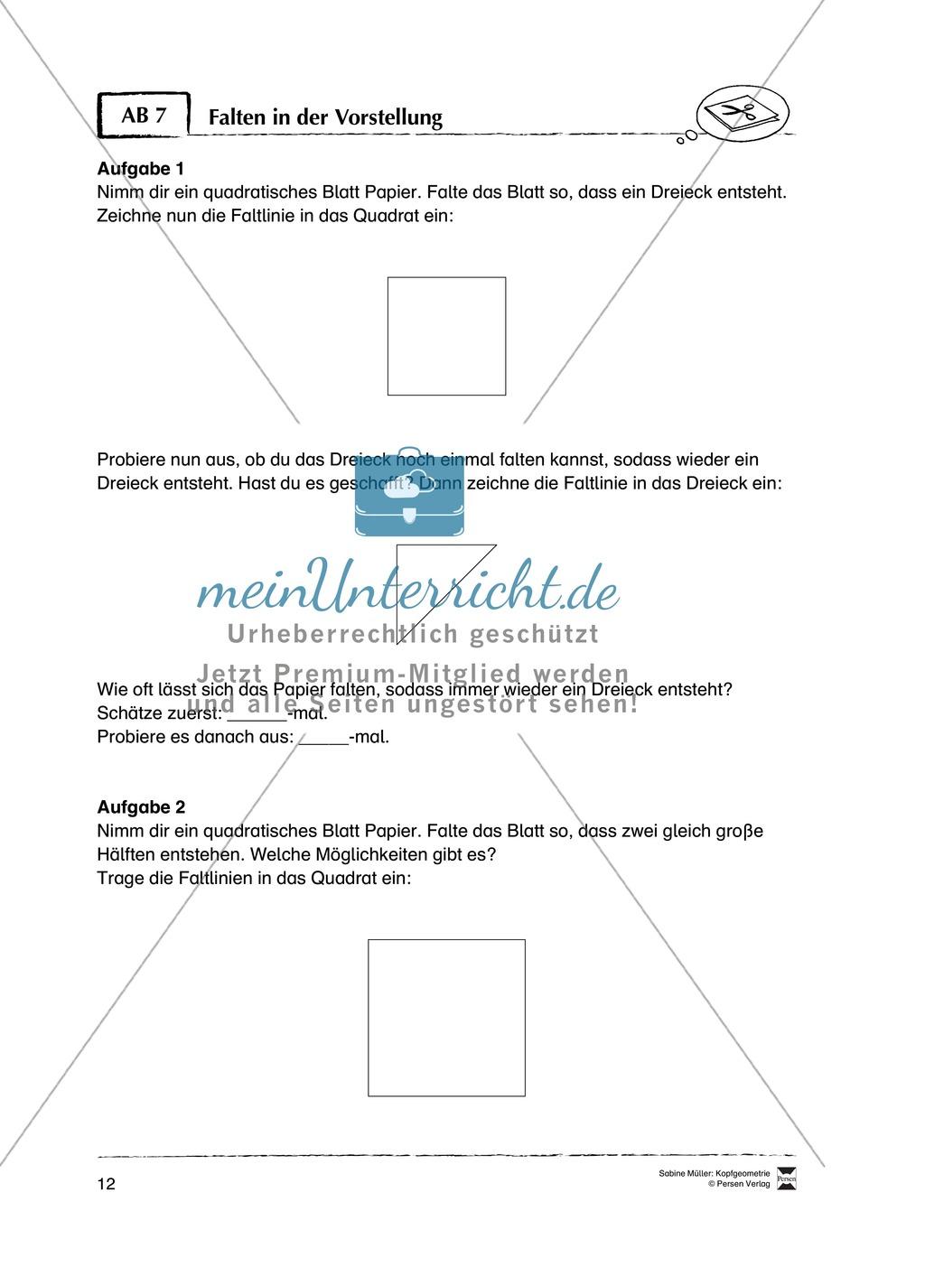 Arbeitsblätter zur Schulung des räumlichen Vorstellungsvermögens Preview 7