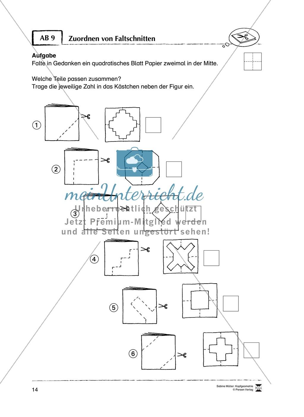 Arbeitsblätter zur Schulung des räumlichen Vorstellungsvermögens Preview 9