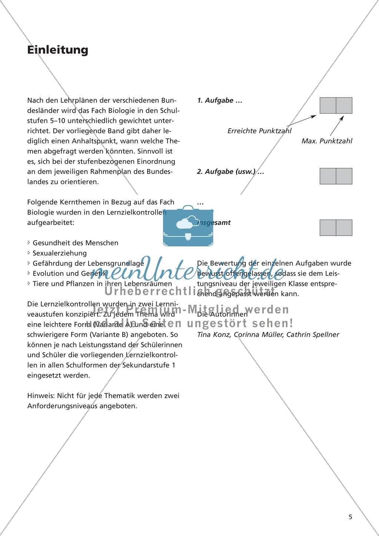 LZK Klasse 5/6 zum Thema menschlicher Körper Preview 0