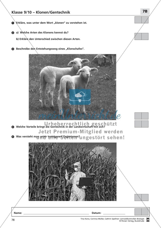 LZK Klasse 9/10 zum Thema Klonen/Gentechnik Preview 3