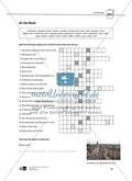 On the Road: crossword exercise to practice vocabulary about road traffic and driving. With solution Preview 2