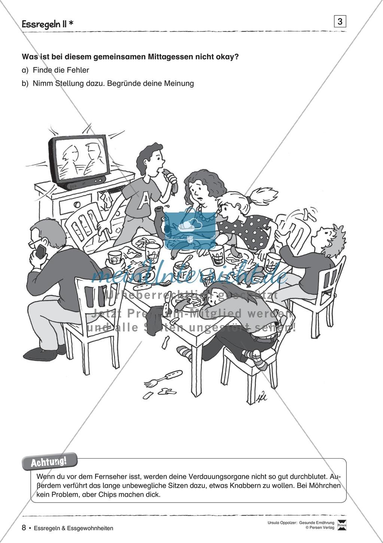 Regeln beim Essen + Beobachtungsbogen Preview 2