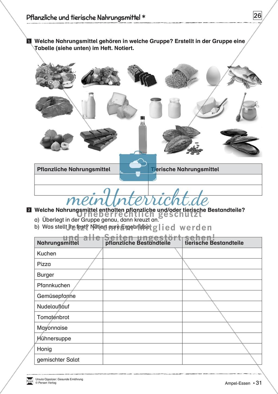 Pflanzliche und tierische Nahrungsmittel Preview 1