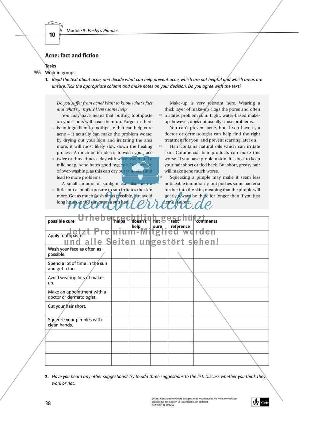 Pushy's Pimples: Zusammenfassung + Aufgaben + Arbeitsblätter Preview 11