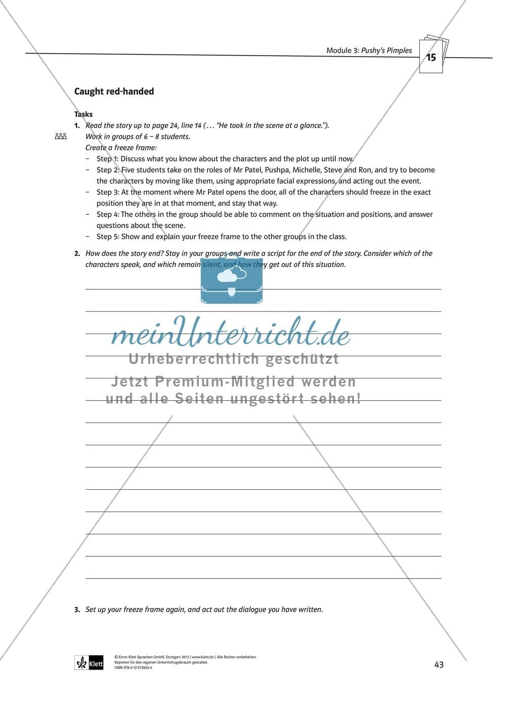 Pushy's Pimples: Zusammenfassung + Aufgaben + Arbeitsblätter Preview 16