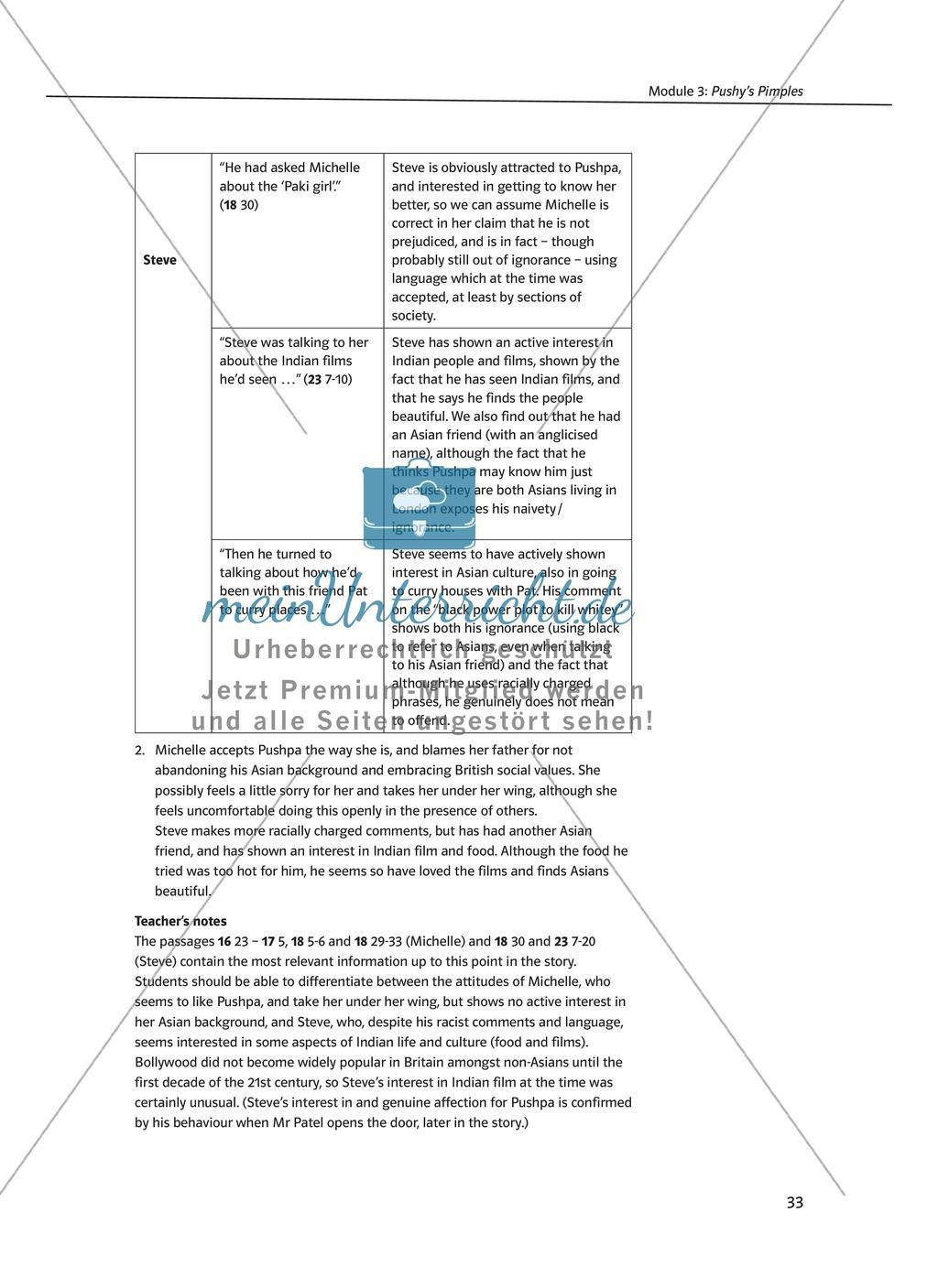Pushy's Pimples: Zusammenfassung + Aufgaben + Arbeitsblätter Preview 6