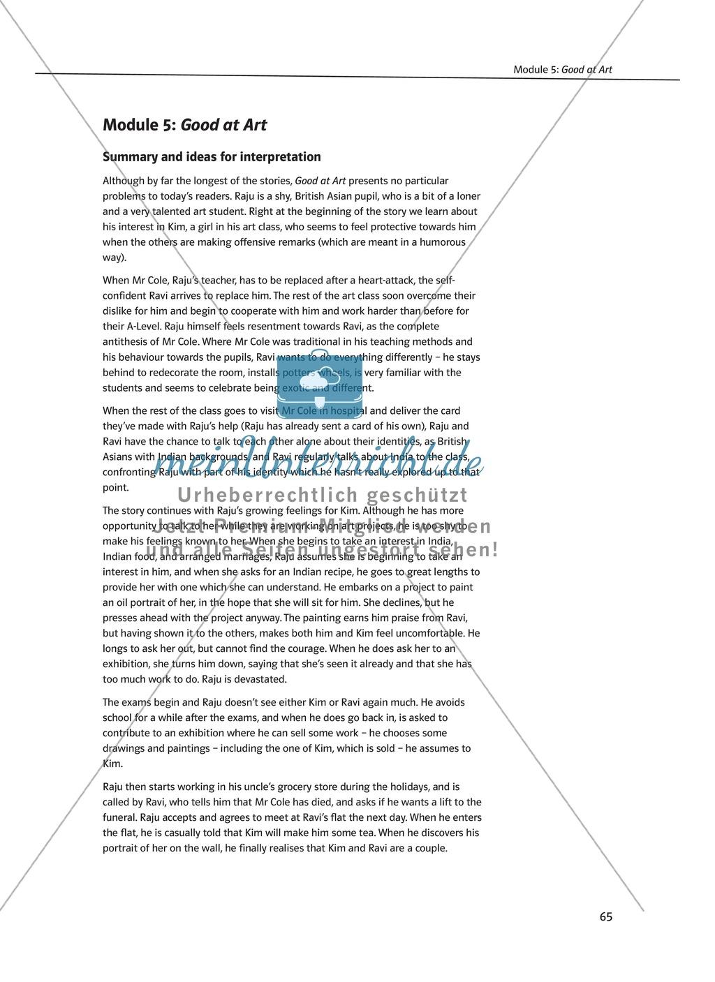 Good at Art: Zusammenfassung + Aufgaben + Arbeitsblätter Preview 0