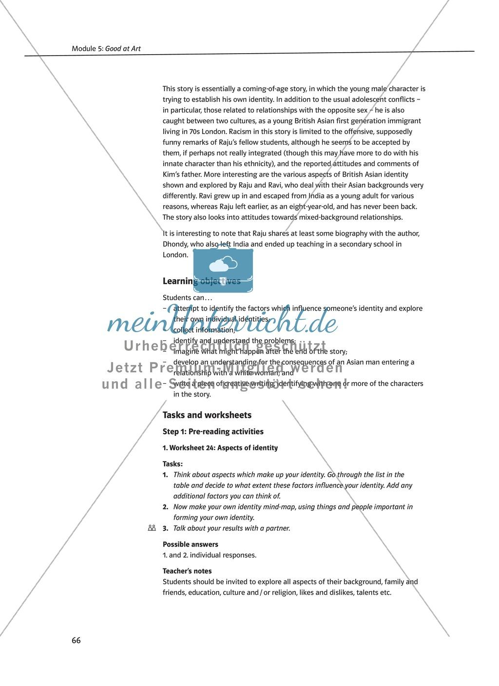 Good at Art: Zusammenfassung + Aufgaben + Arbeitsblätter Preview 1