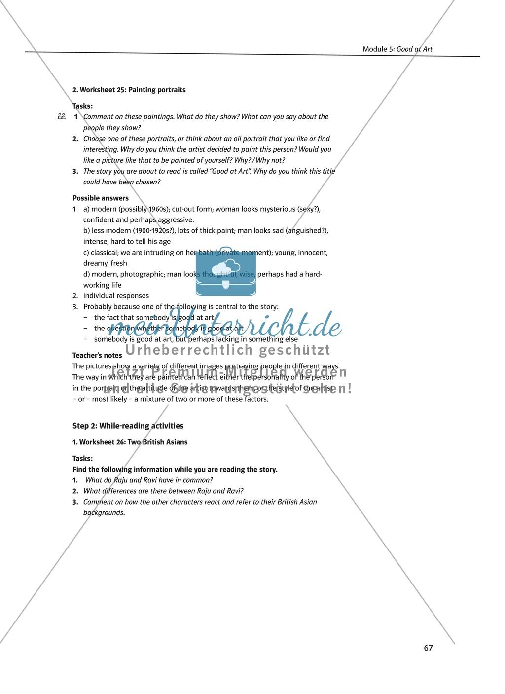 Good at Art: Zusammenfassung + Aufgaben + Arbeitsblätter Preview 2