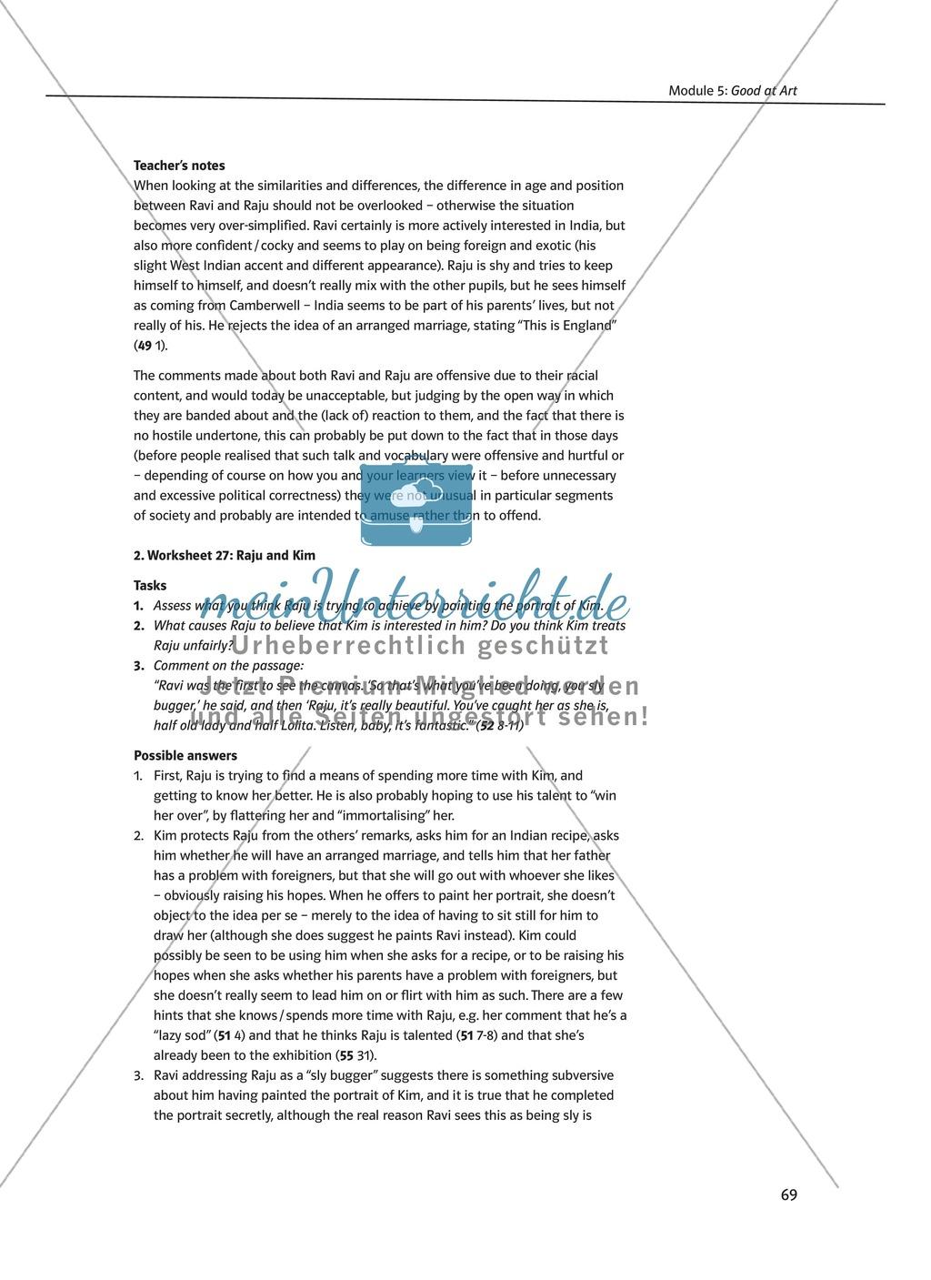 Good at Art: Zusammenfassung + Aufgaben + Arbeitsblätter Preview 4