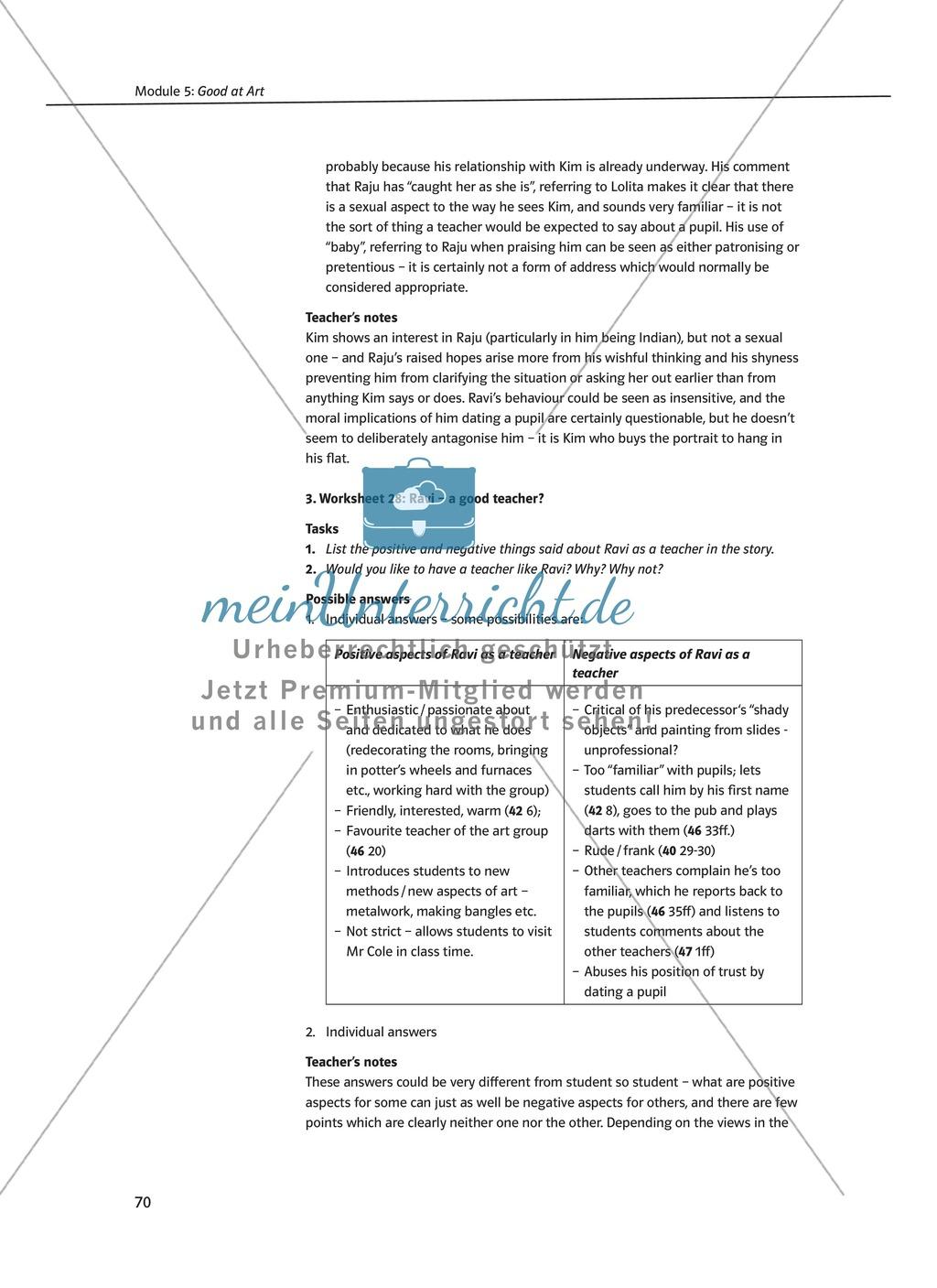 Good at Art: Zusammenfassung + Aufgaben + Arbeitsblätter Preview 5