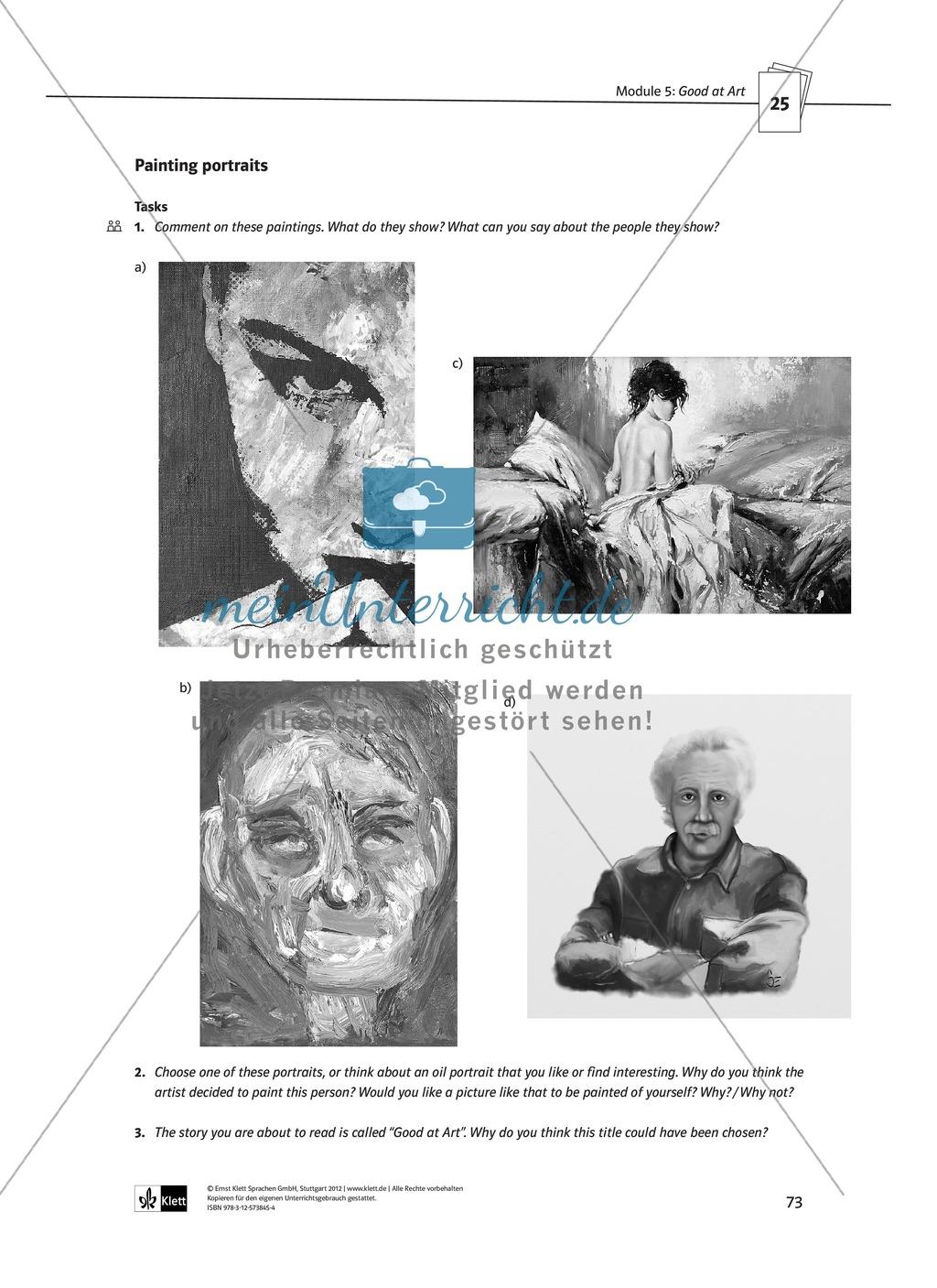 Good at Art: Zusammenfassung + Aufgaben + Arbeitsblätter Preview 8