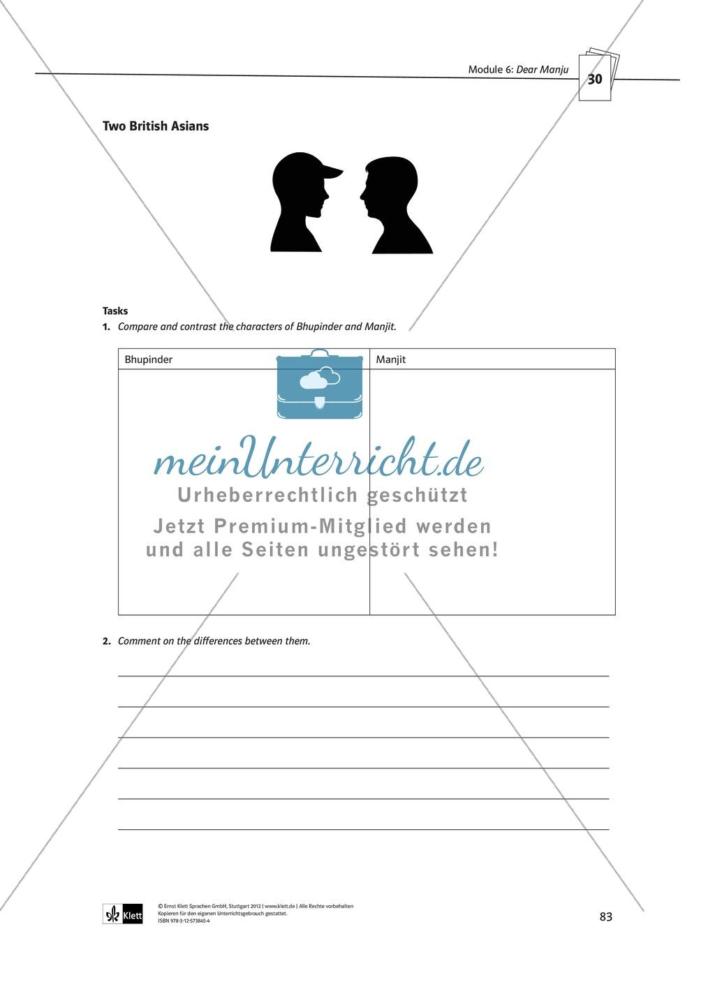 Dear Manju: Zusammenfassung + Aufgaben + Arbeitsblätter Preview 5