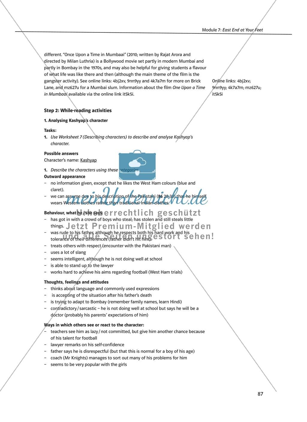 East End at Your Feet: Zusammenfassung + Aufgaben + Arbeitsblätter Preview 2