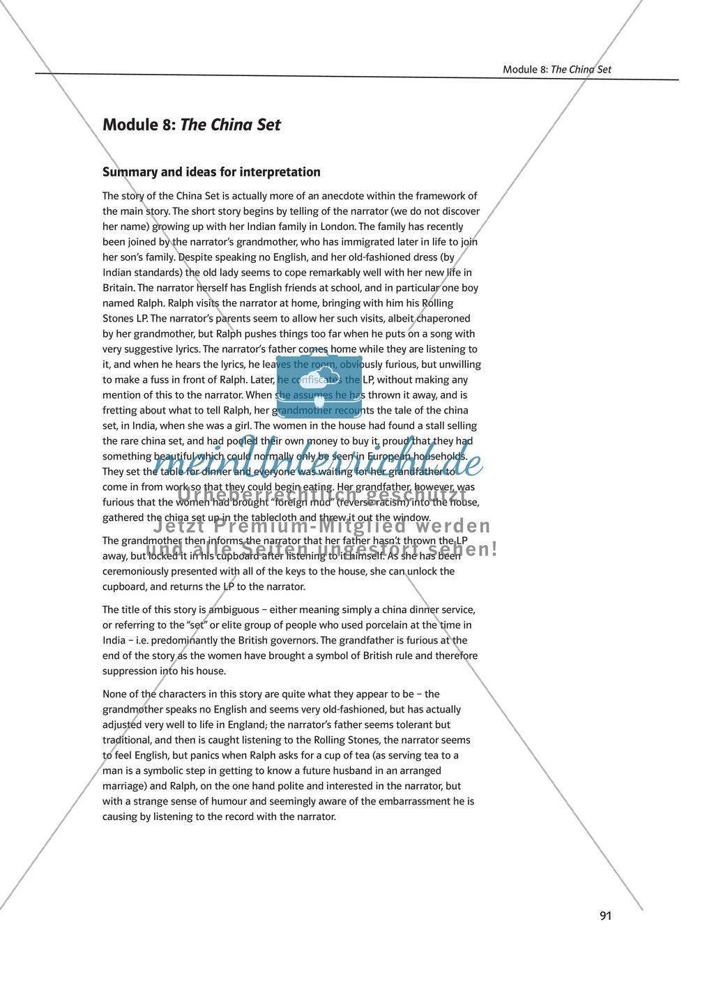 The China Set: Zusammenfassung + Aufgaben + Arbeitsblätter Preview 0