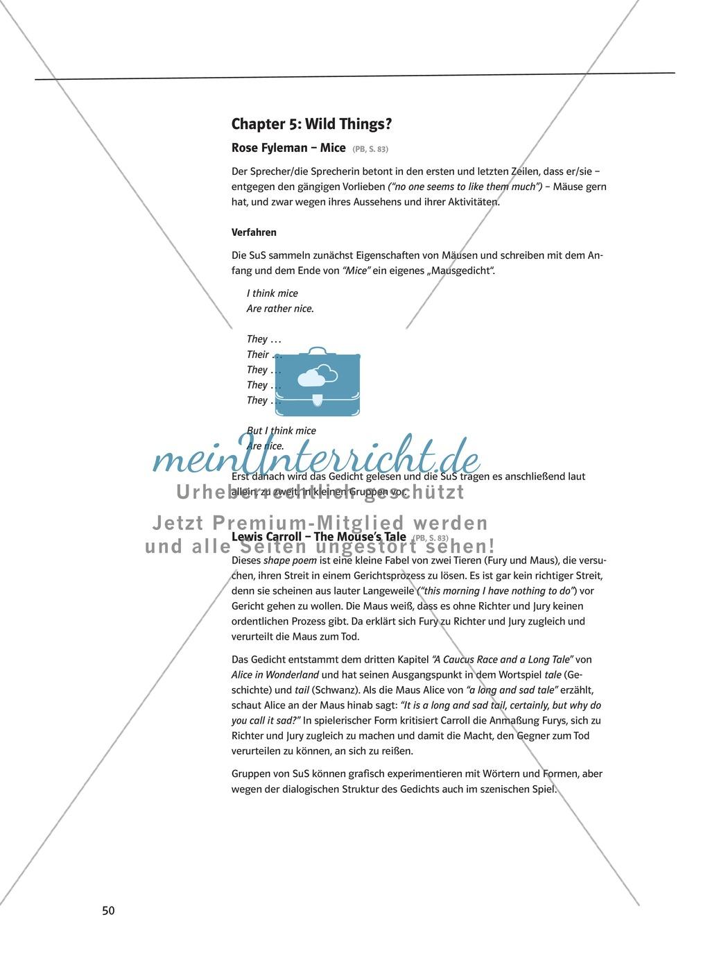 The Poetry Box: Wild Things? Beispiele + Lernziele + Verfahren + Arbeitsblätter Preview 0