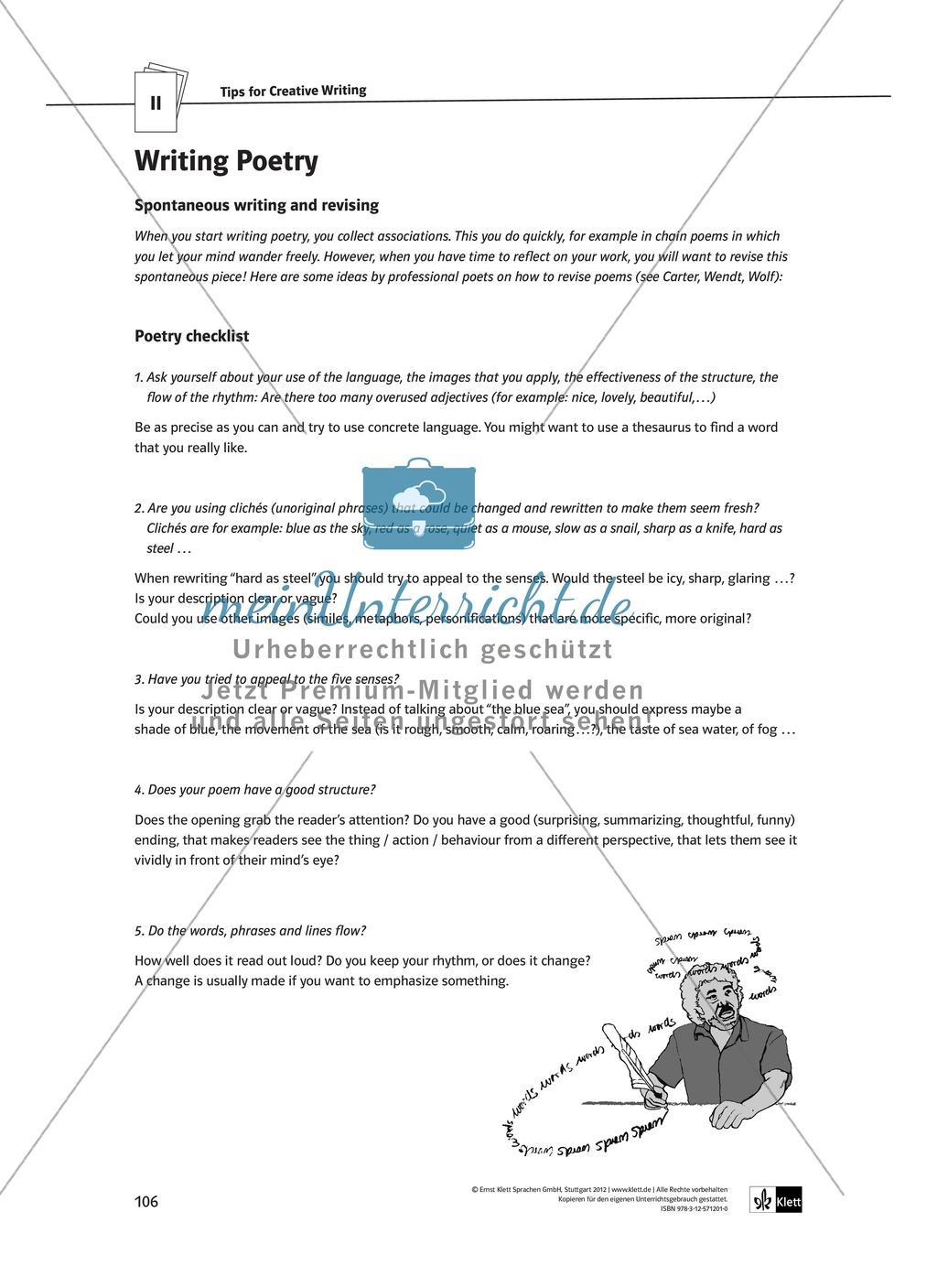 The Poetry Box: Wild Things? Beispiele + Lernziele + Verfahren + Arbeitsblätter Preview 34