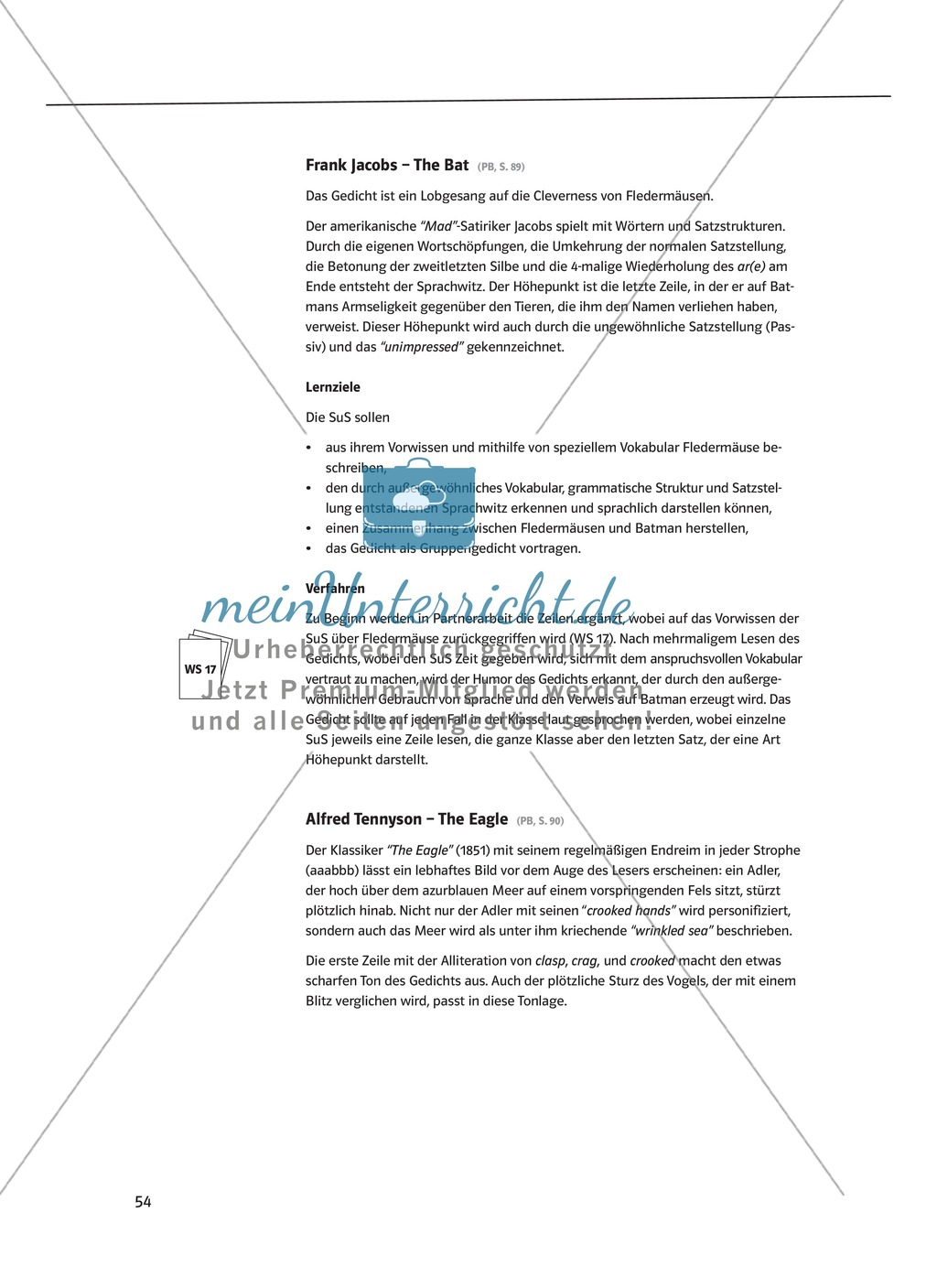 The Poetry Box: Wild Things? Beispiele + Lernziele + Verfahren + Arbeitsblätter Preview 4