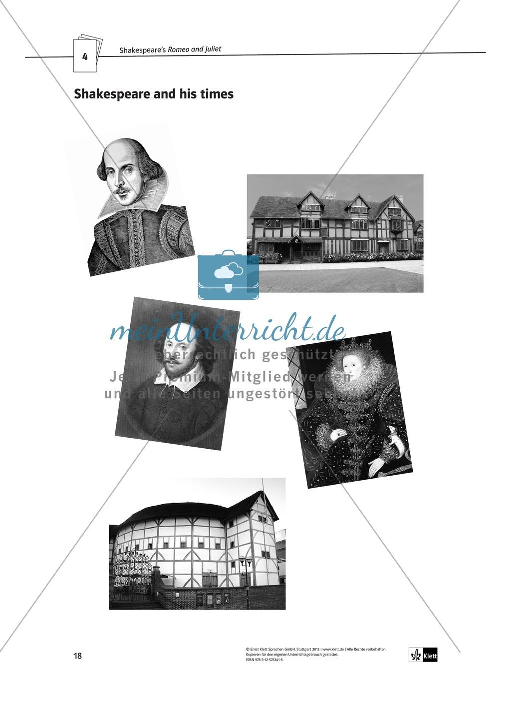 Shakespeare's Romeo and Juliet in year 7: Shakespeare und seine Zeit anhand von Romeo und Julia + Kopiervorlagen Preview 9