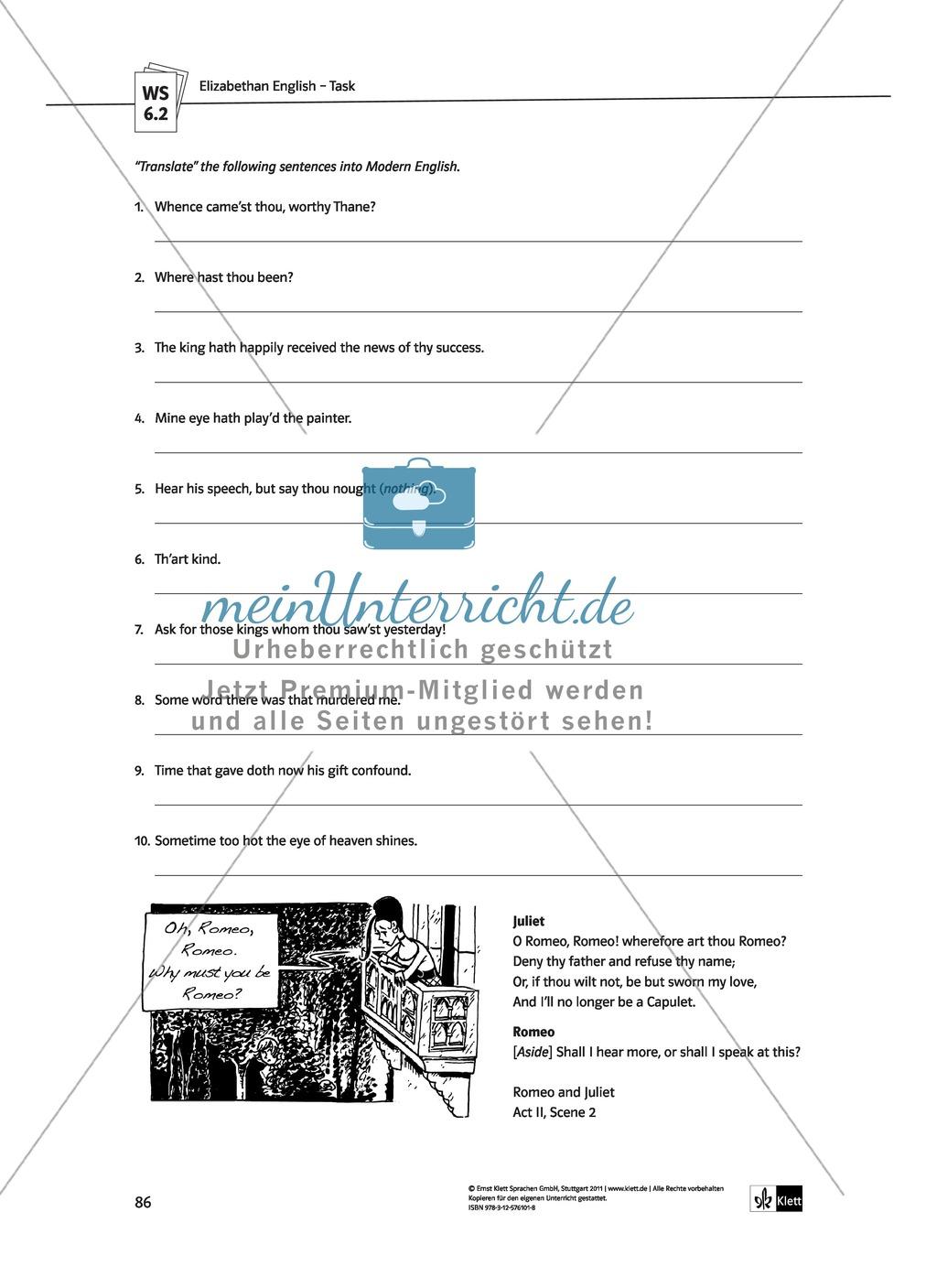 Shakespeare's World - the Elizabethan Age: Themen + Lernziele + Arbeitsblätter + Lösungen Preview 26