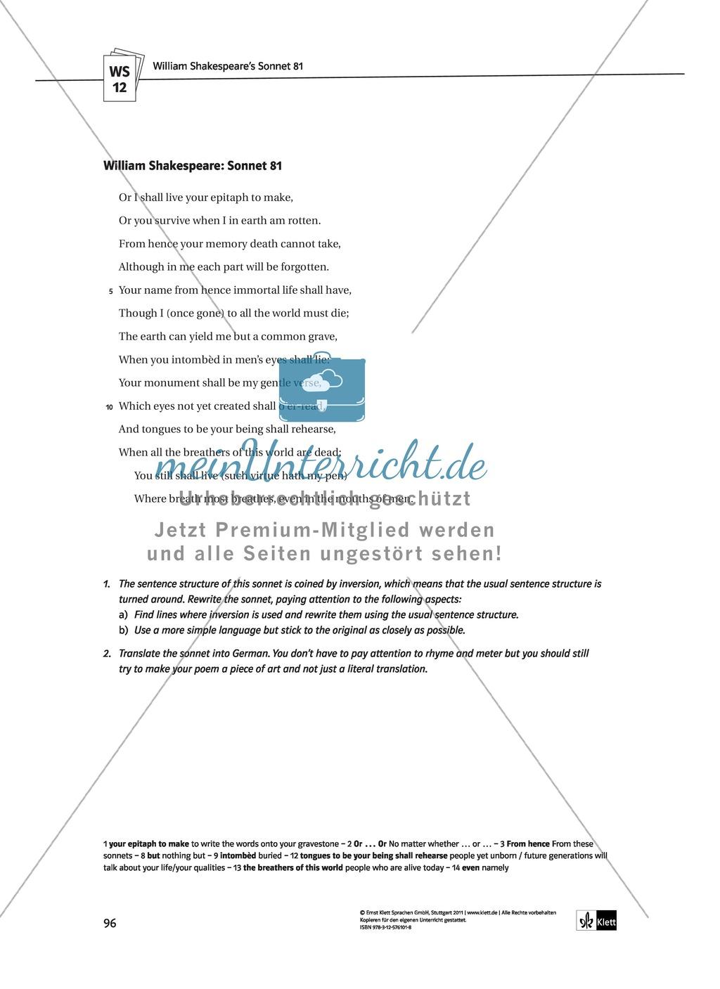 Shakespeare's World - the Elizabethan Age: Themen + Lernziele + Arbeitsblätter + Lösungen Preview 36