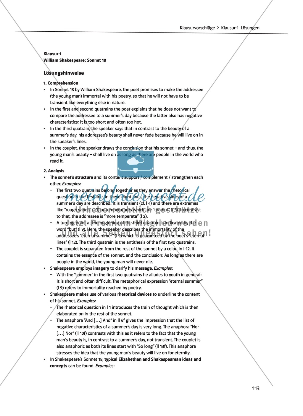 Shakespeare's World - the Elizabethan Age: Themen + Lernziele + Arbeitsblätter + Lösungen Preview 48
