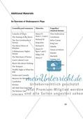 Additional Material: Unterrichtsmaterialien zu William Shakespeare Preview 1