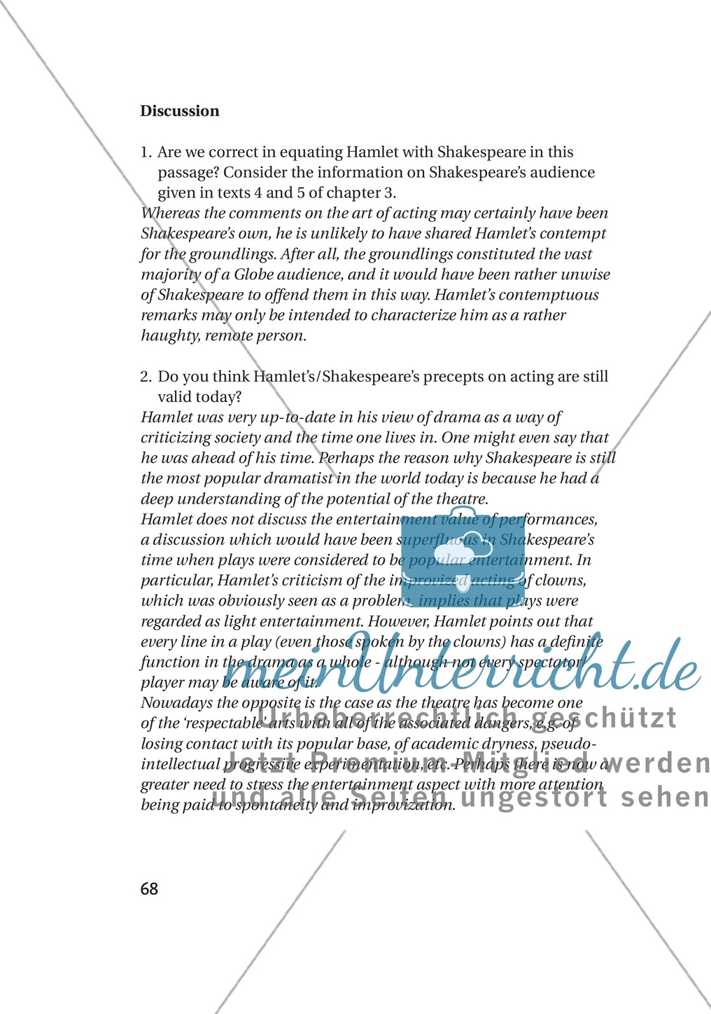 Additional Material: Unterrichtsmaterialien zu William Shakespeare Preview 5