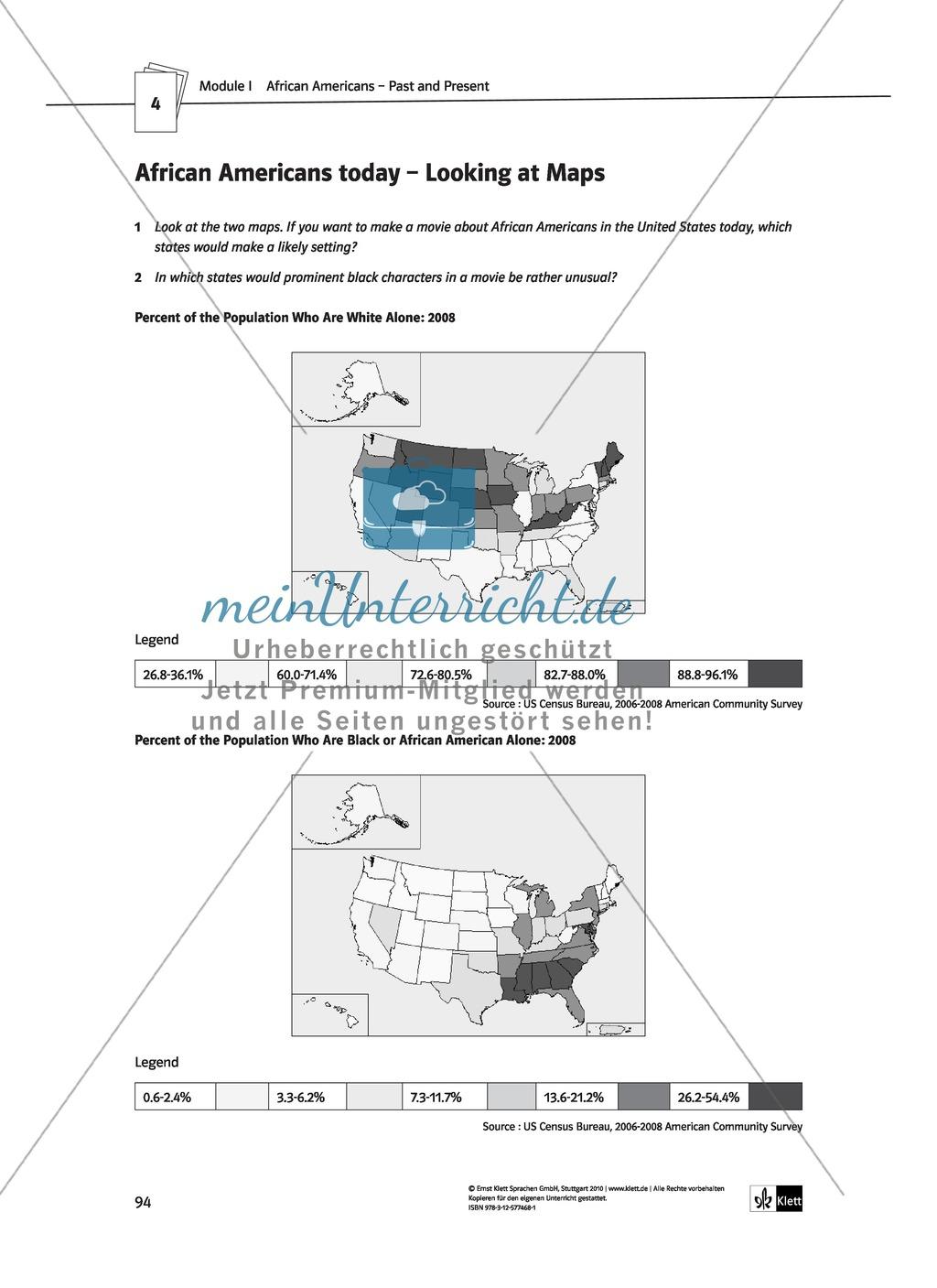 African Americans - Past and Present: Geschichte + Lernziele + Arbeitsblätter + Lösungen Preview 13