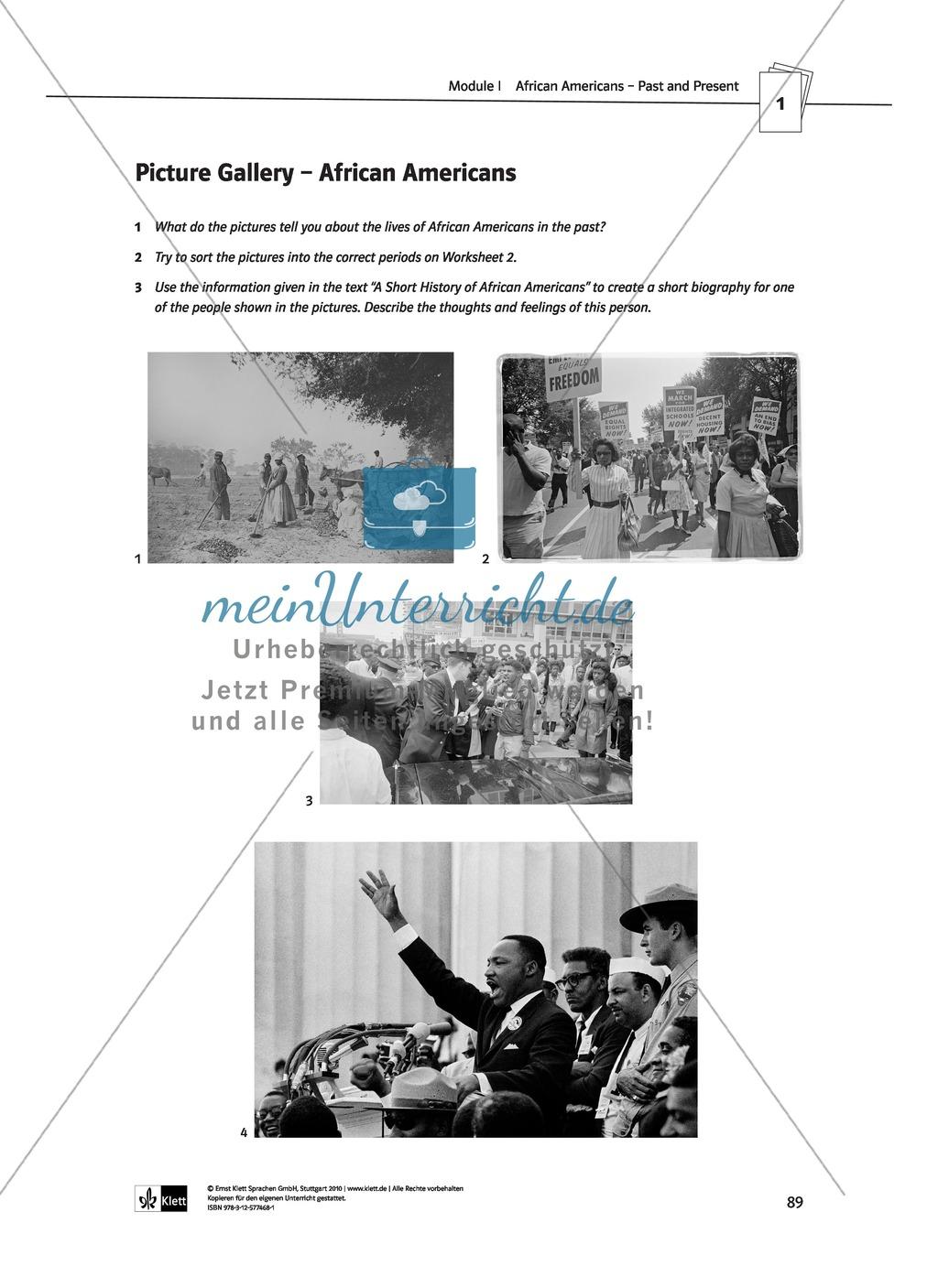 African Americans - Past and Present: Geschichte + Lernziele + Arbeitsblätter + Lösungen Preview 8
