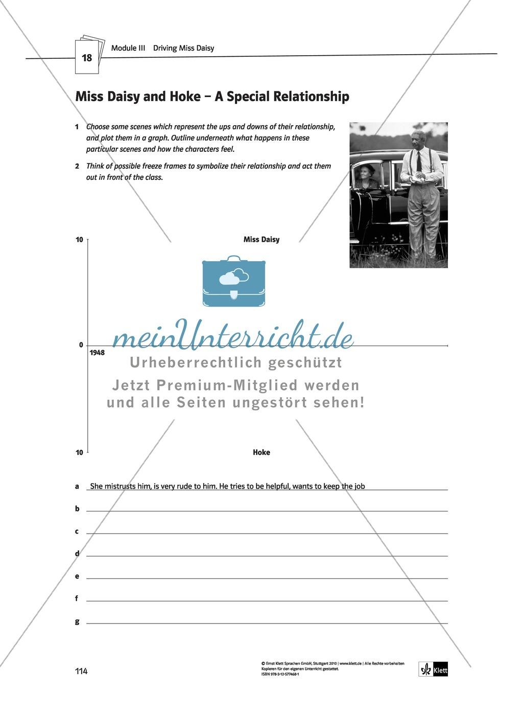 Driving Miss Daisy: Lernziele + Inhalt + Arbeitsblätter + Klausur + Lösungen Preview 34
