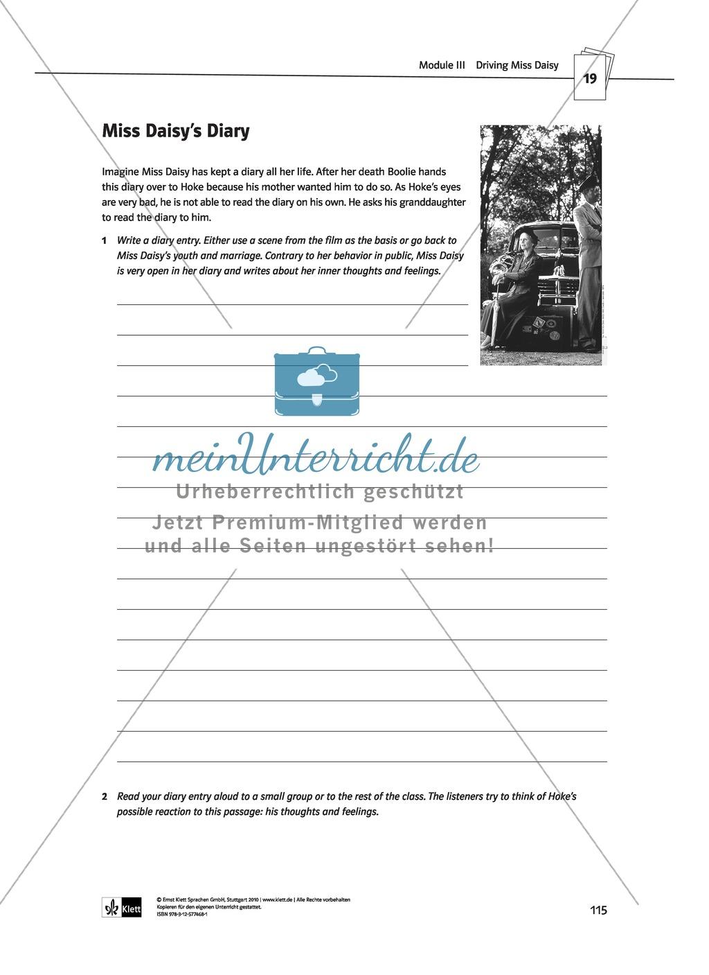 Driving Miss Daisy: Lernziele + Inhalt + Arbeitsblätter + Klausur + Lösungen Preview 35
