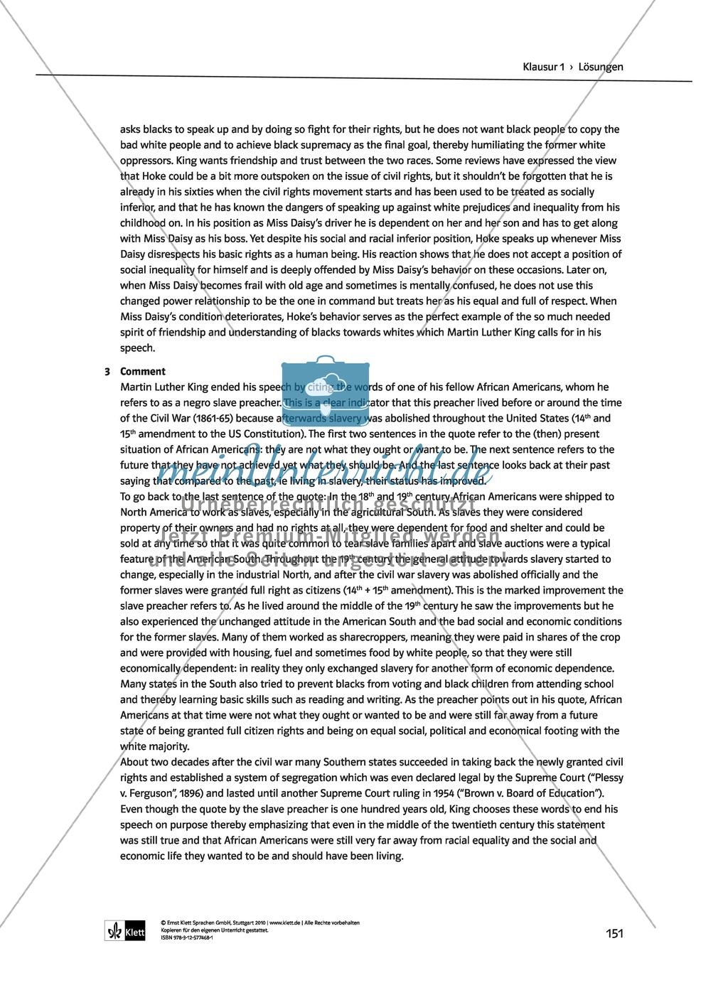 Driving Miss Daisy: Lernziele + Inhalt + Arbeitsblätter + Klausur + Lösungen Preview 44