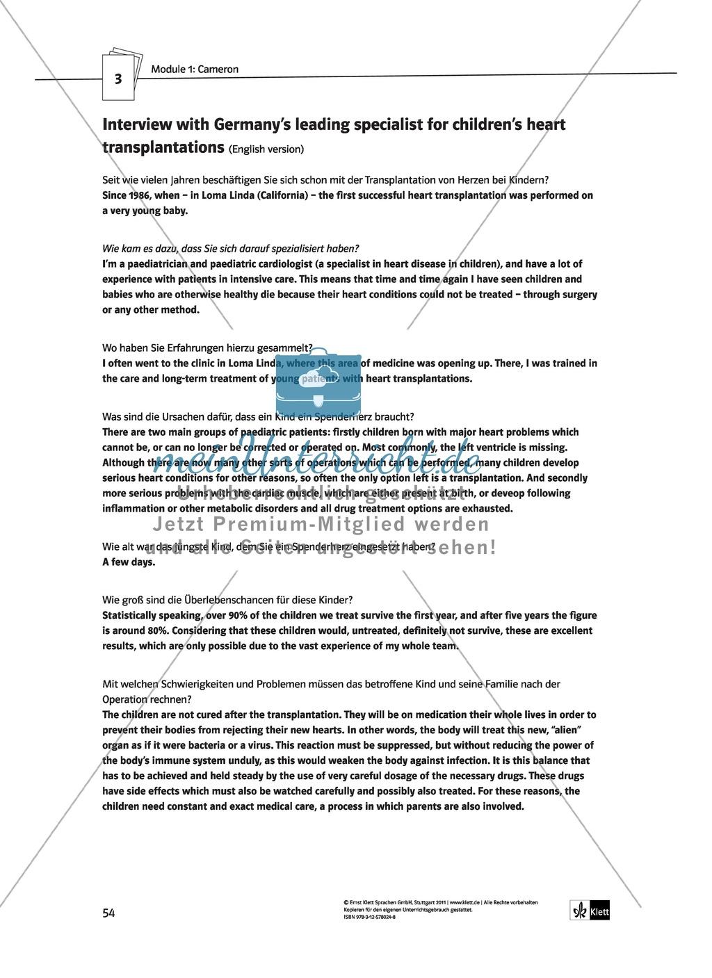 Cameron as the main character: Direct and indirect characterisation. Mit didaktischen Anmerkungen, Kopiervorlagen, Vokabelanmerkungen und Lösungsvorschlägen. Preview 11