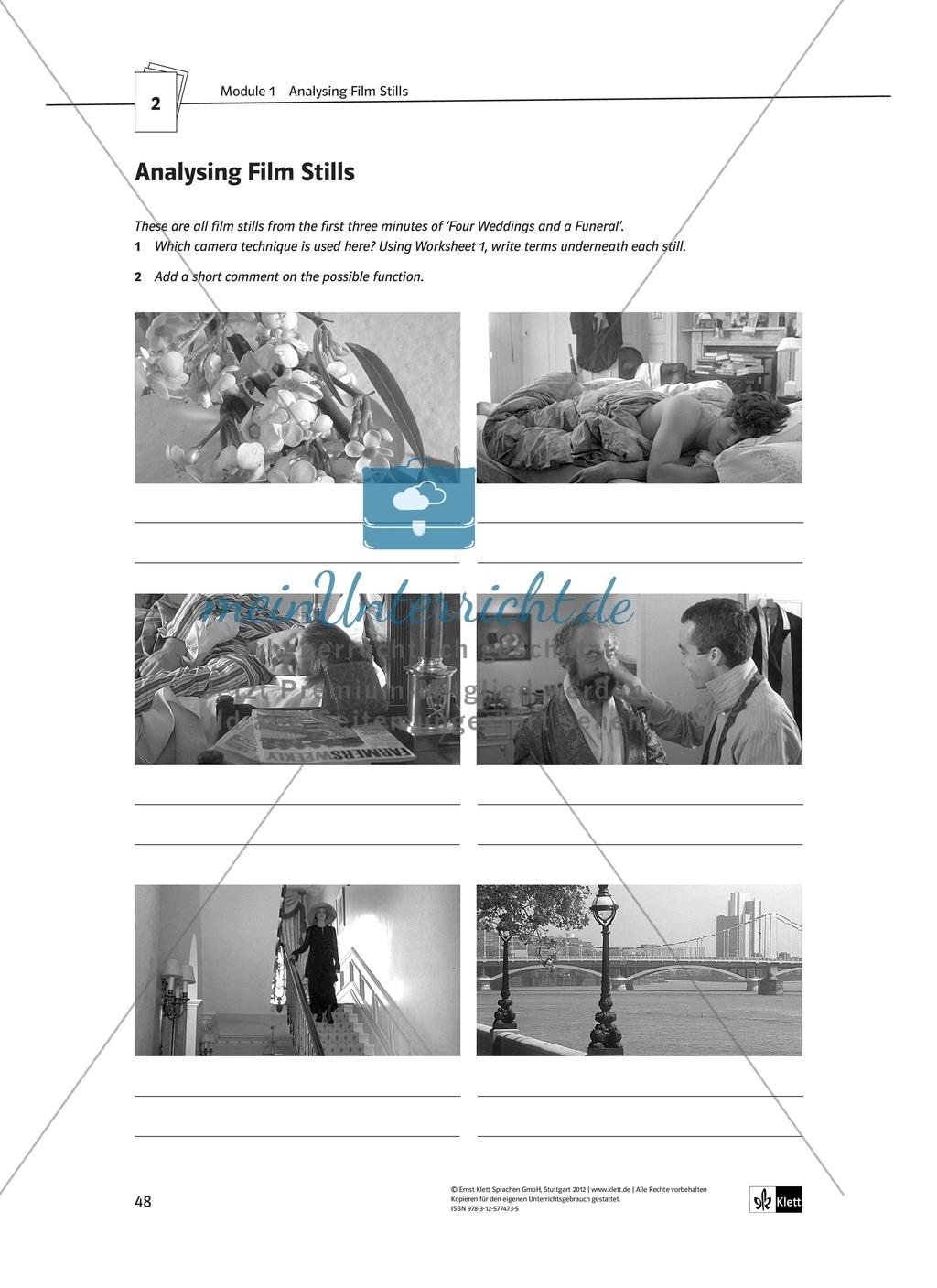 Tools for film analysis - Grundbegriffe der Filmanalyse und Vertiefung des Fachvokabulars zur Charakteranalyse Preview 3