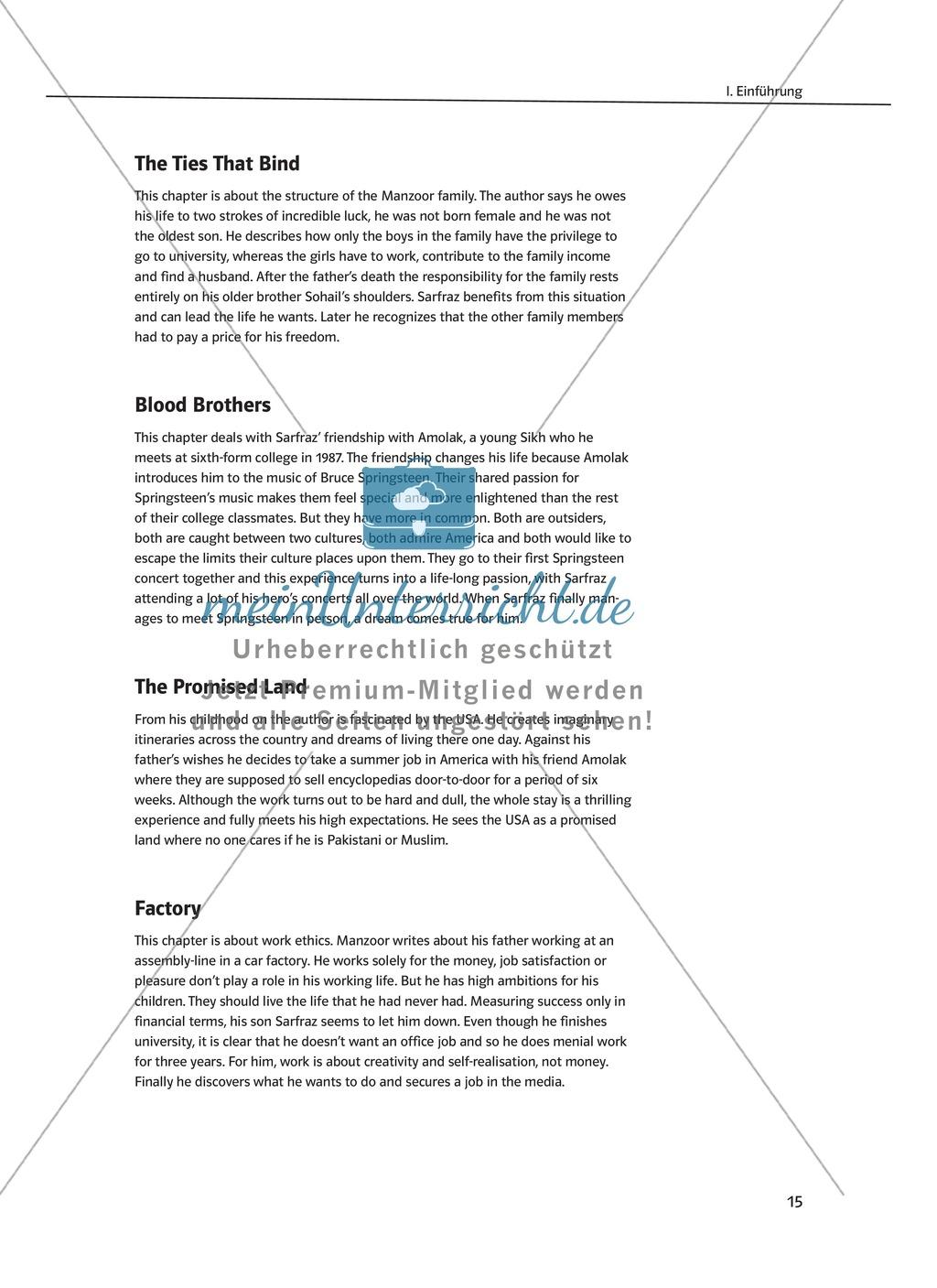 Greetings from Bury Park: Synopse + Biographie + Stundenübersicht + Kapitelübersicht Preview 7