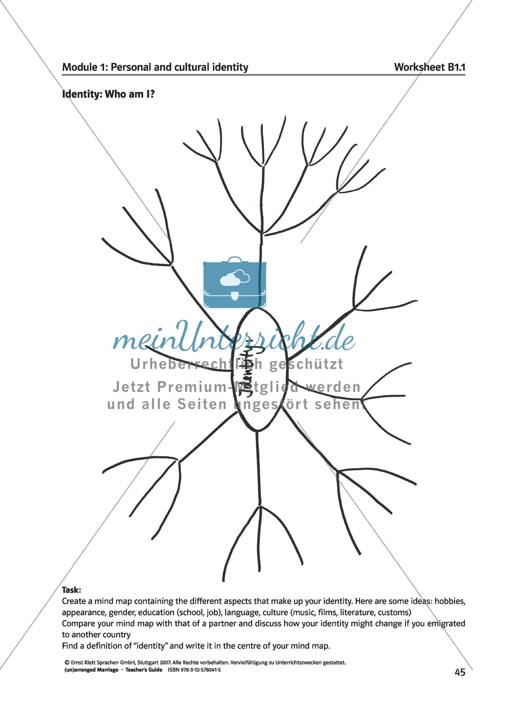 (Un)arranged marriage - Themen für die Oberstufe: Personal and cultural identity in general and in reference to the novel Preview 3