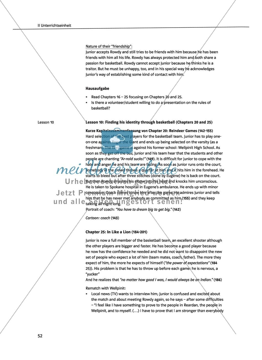 Unterrichtseinheit zu Kapitel 3 und 4 des Romans