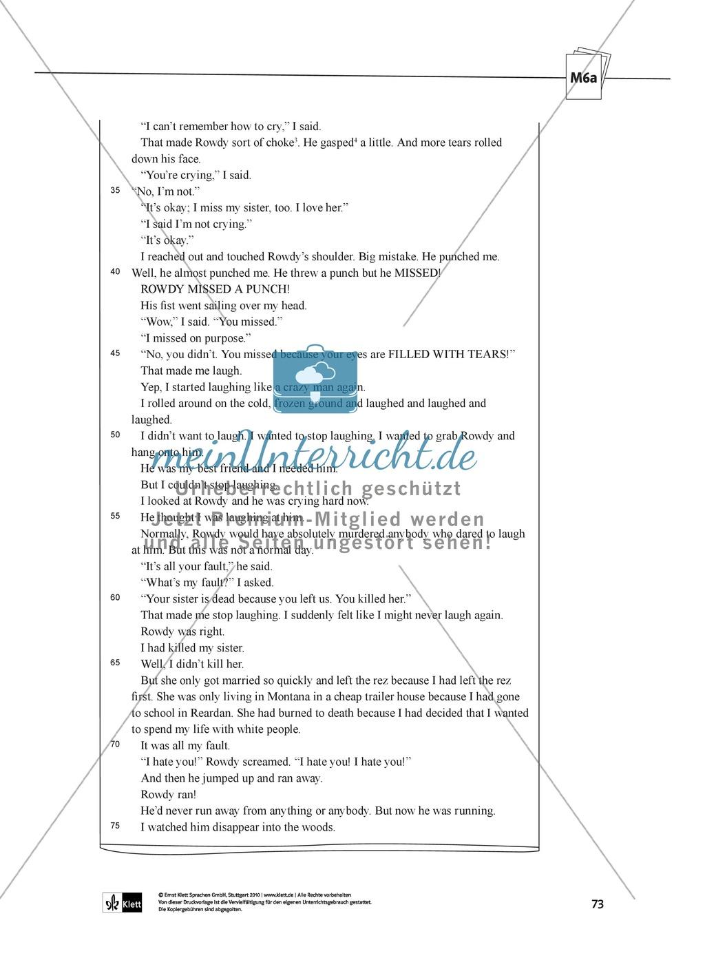 2-stündige Klausur nach einer Unterrichtsreihe über den Roman